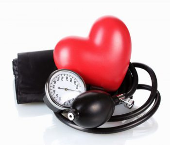 Blood pressure monitor with heart